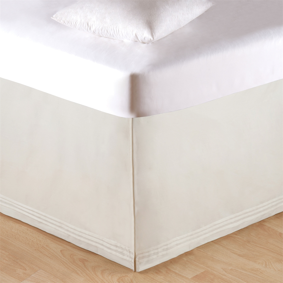 Soft White Tailored King Bed Skirt