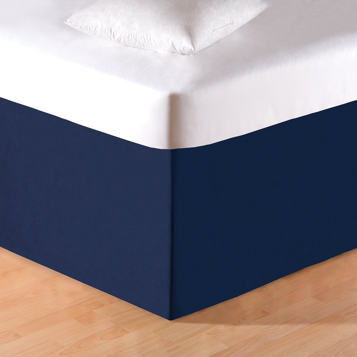 Navy Blue King Bedskirt