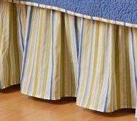 Blue & Green Stripes Twin Bedskirt