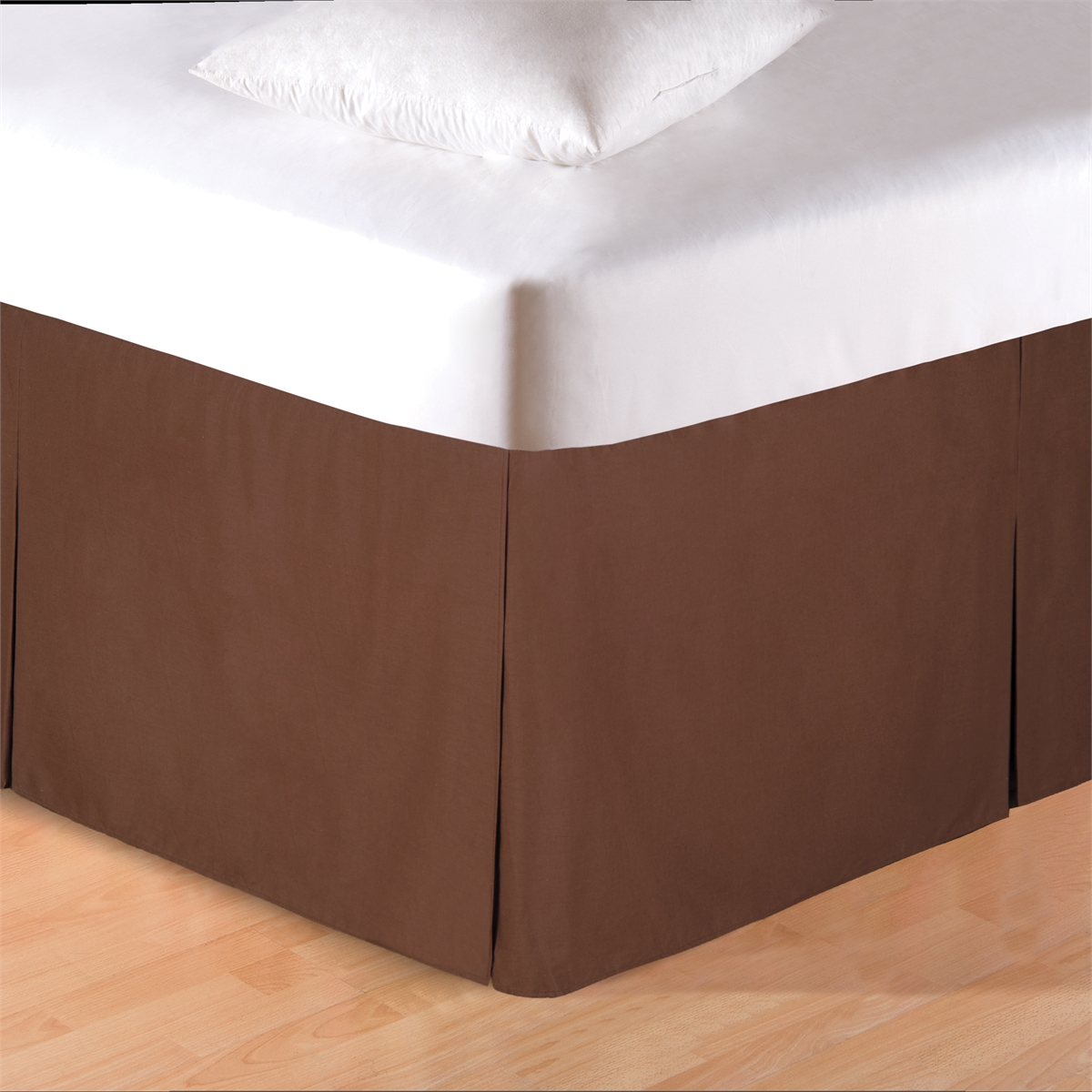 Brown King Bed Skirt