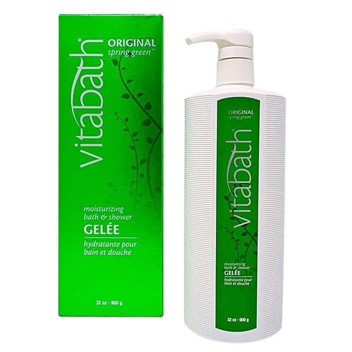 Vitabath Original Spring Green Moisturizing Bath & Shower Gelee (32 oz)