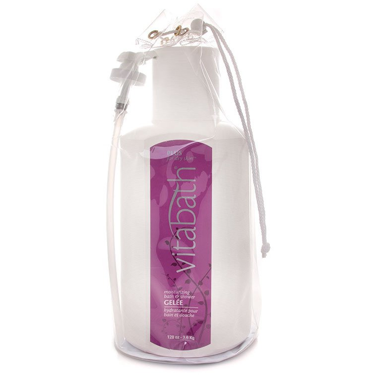 Vitabath Plus for Dry Skin Gallon Size Moisturizing Bath & Shower Gelee (128 oz)