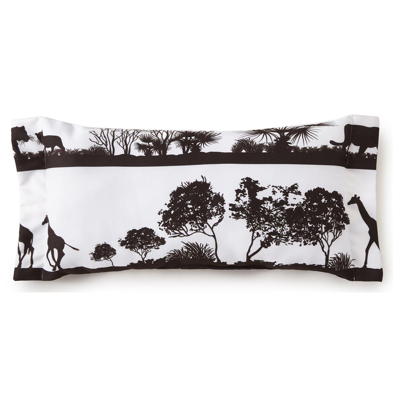 African Safari Long Rectangle Pillow - White Safari