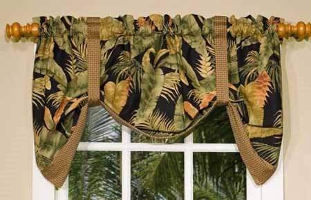 La Selva Black Tie Up Valance
