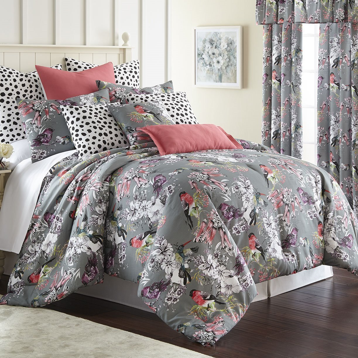 Birds In Bliss Comforter Set Super Queen Size
