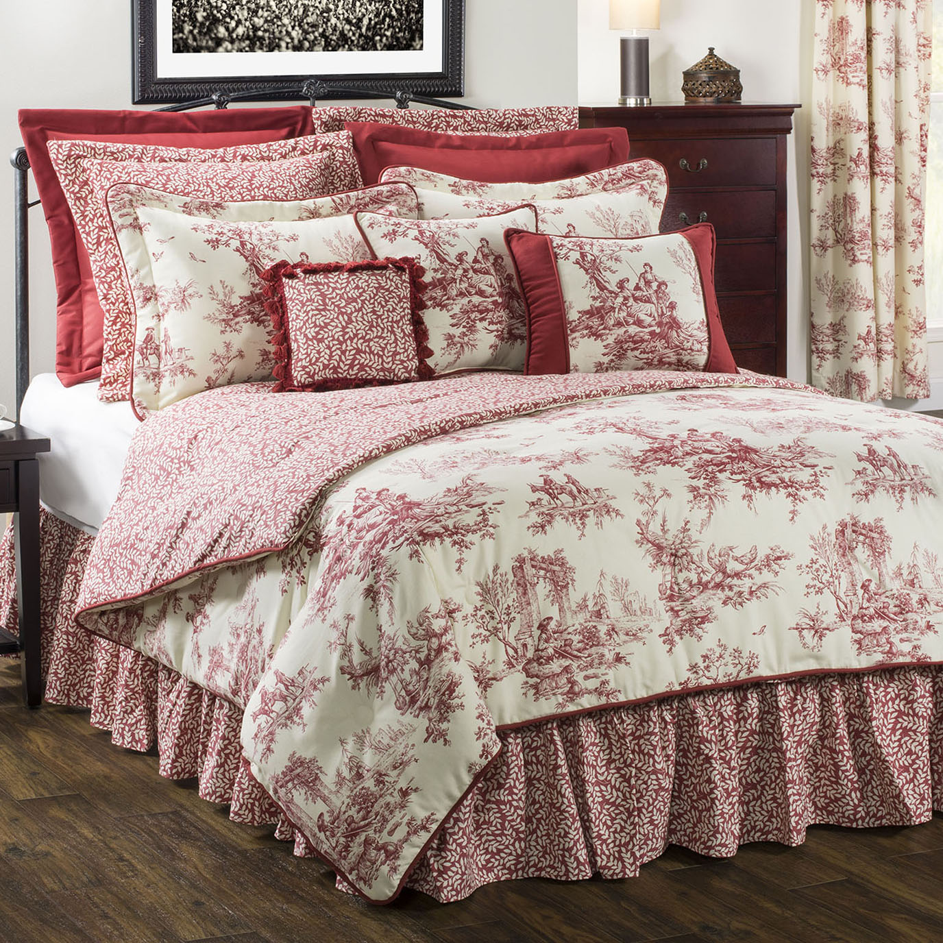 Bouvier Red King Comforter