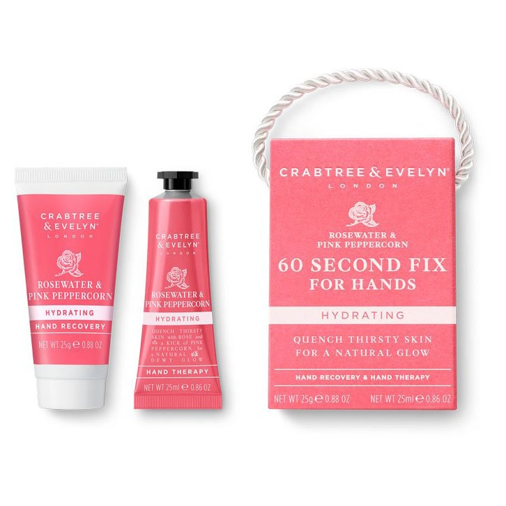 Crabtree & Evelyn Rosewater & Pink Peppercorn 60-Second Fix for Hands-Mini