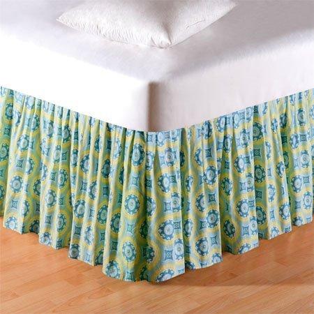 Delilah Blue Twin Bedskirt