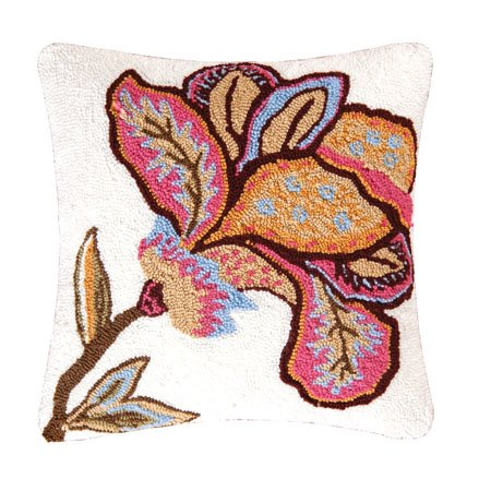 Bethany Flower Hooked Pillow