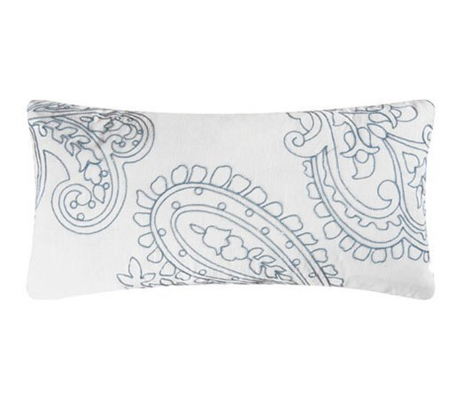 Aqua Paisley Pillow