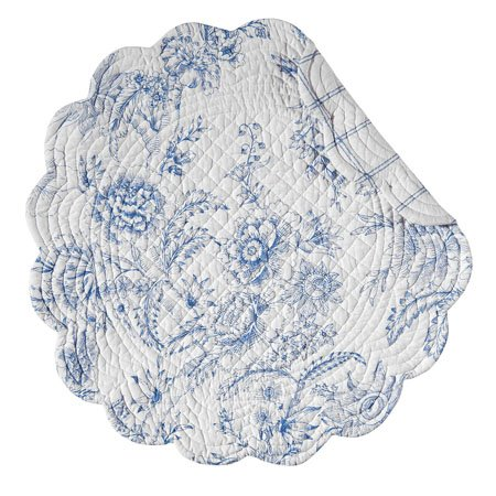 Clementina Dusk Round Quilted Placemat