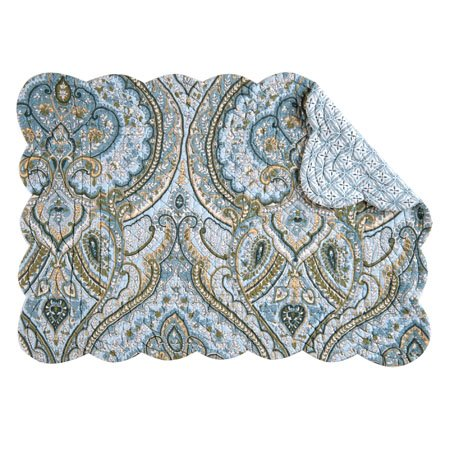 Amherst Blue Rectangular Quilted Placemat