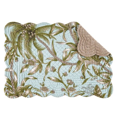 Barbados Sea Rectangular Quilted Placemat