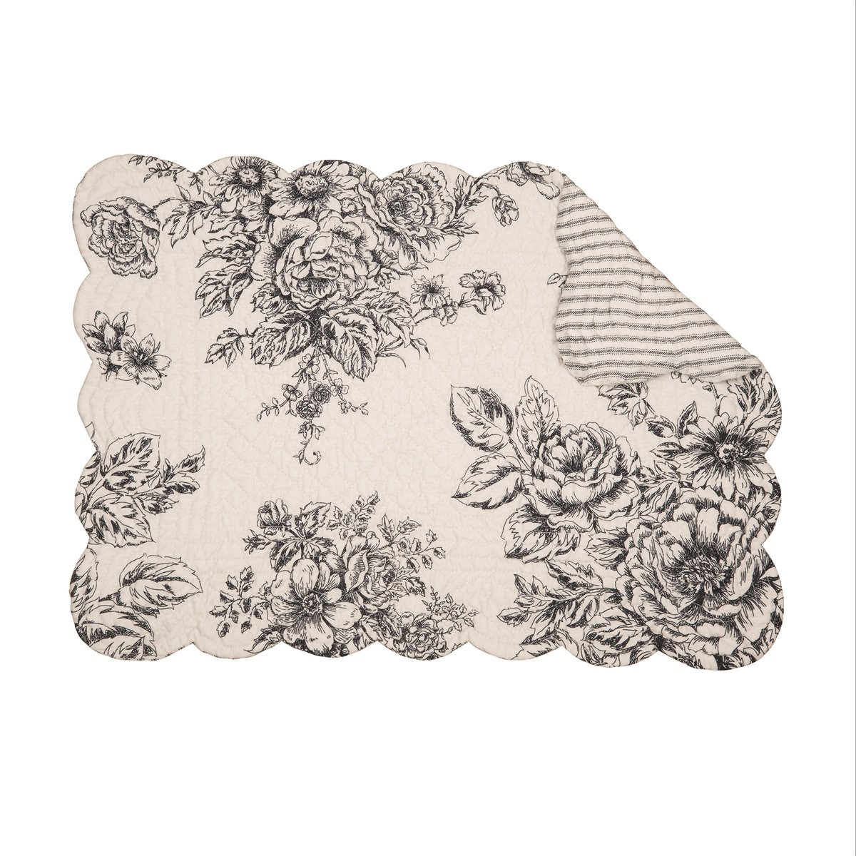 Nelly Onyx Rectangular Quilted Placemat
