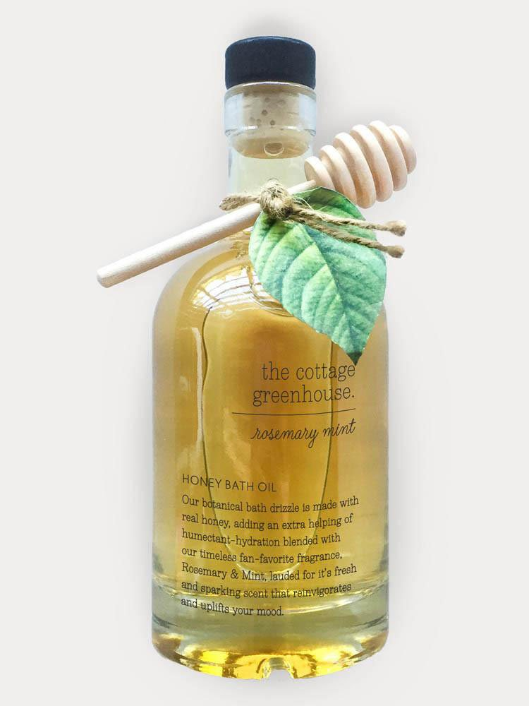 The Cottage Greenhouse Rosemary Mint Honey Bath Oil