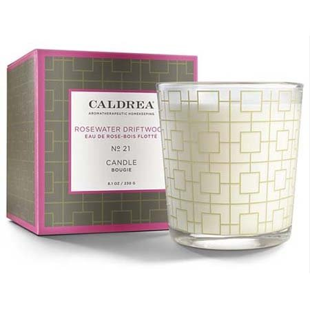 Caldrea Rosewater Driftwood Candle