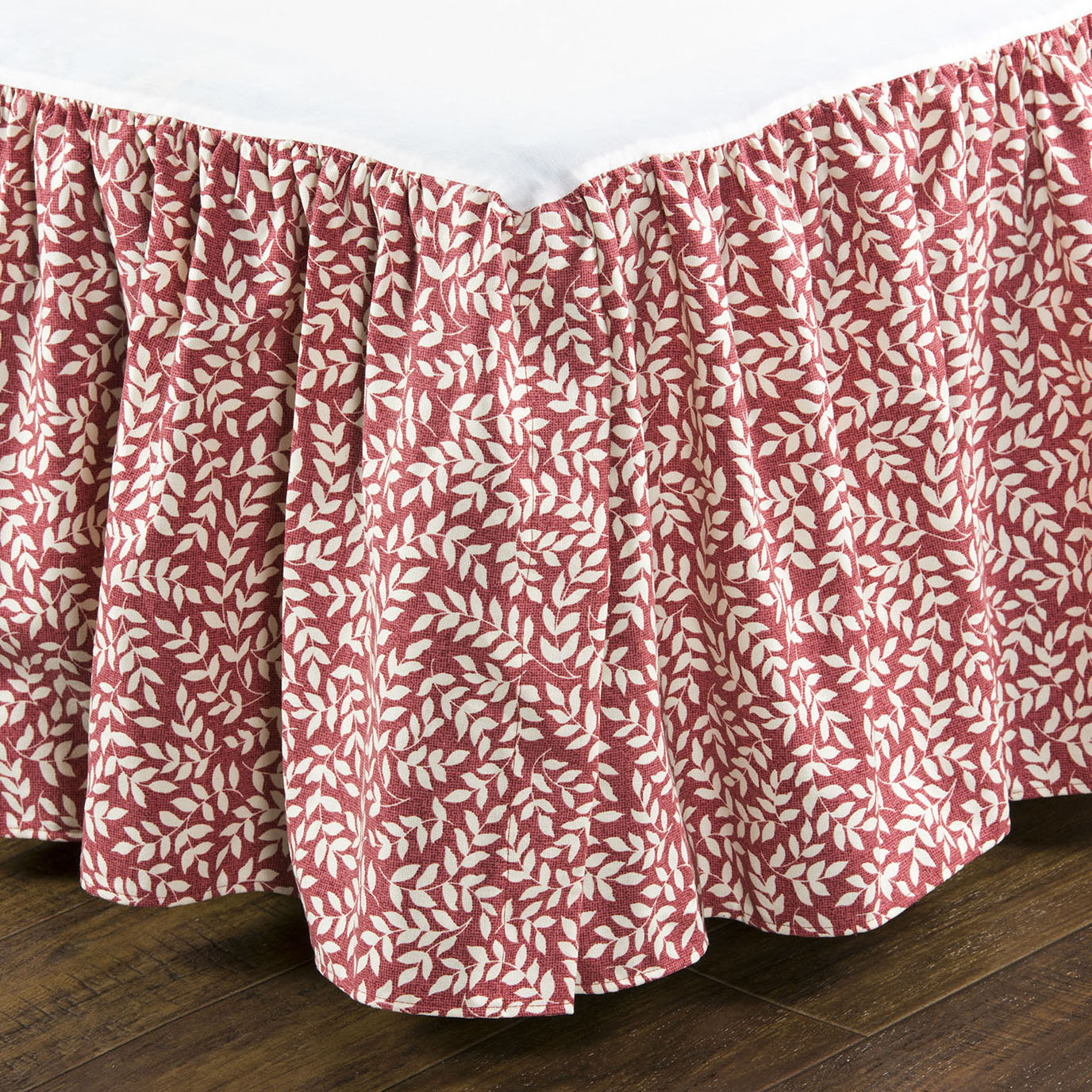 "Bouvier Red Twin 15"" Drop Bed Skirt"