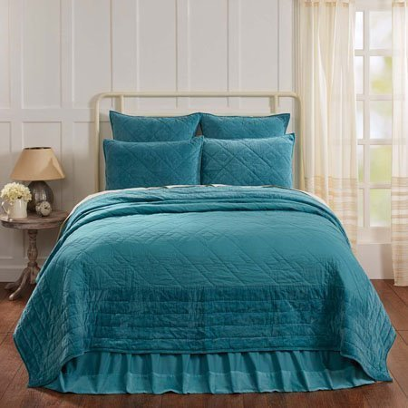 Eleanor Teal Twin Size Quilt