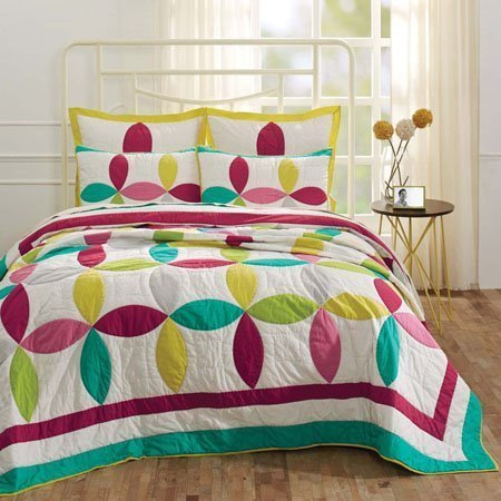 Everly Queen Size 3 Piece Quilt Set