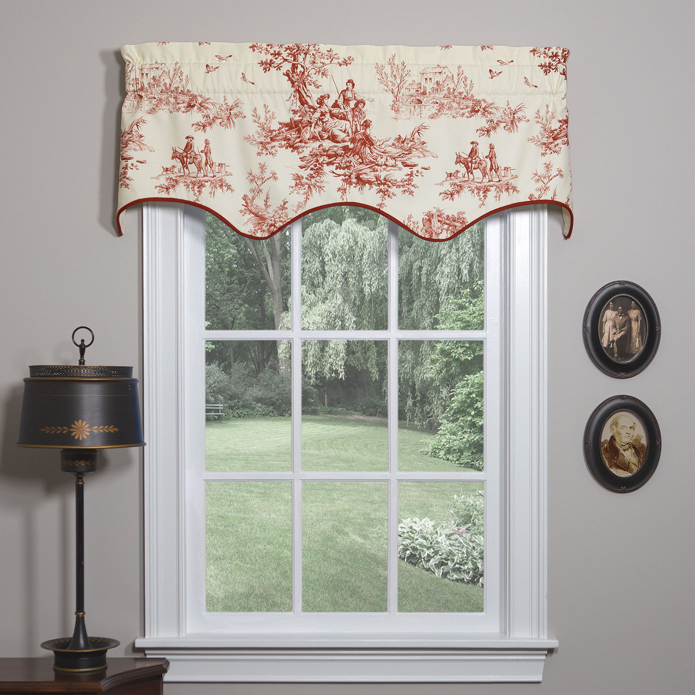 Bouvier Red Empress Filler Valance