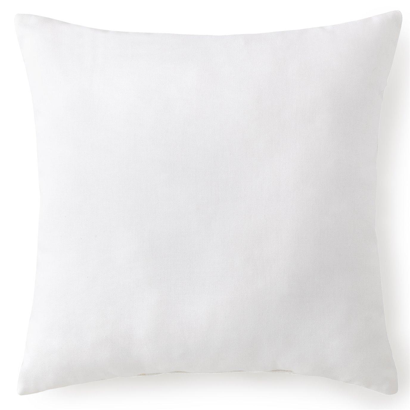 "Flamingo Palms Square Cushion 18""x18"" - Solid White"
