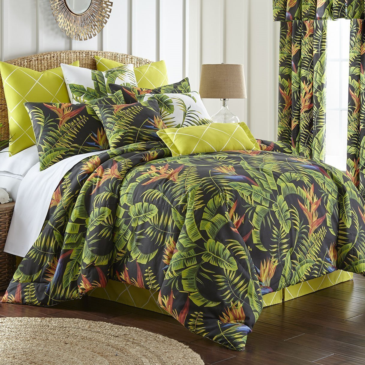 Flower Of Paradise Duvet Cover Set Super Queen Size