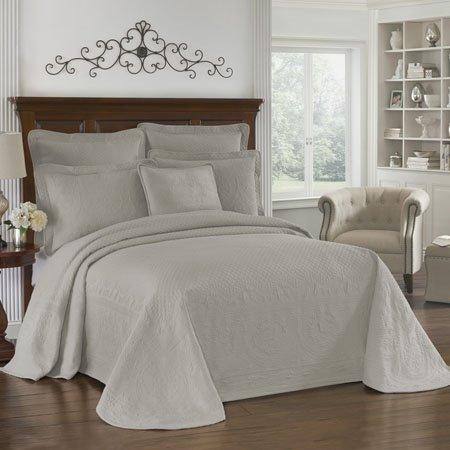 Historic Charleston King Charles Matelasse Grey King Size Bedspread