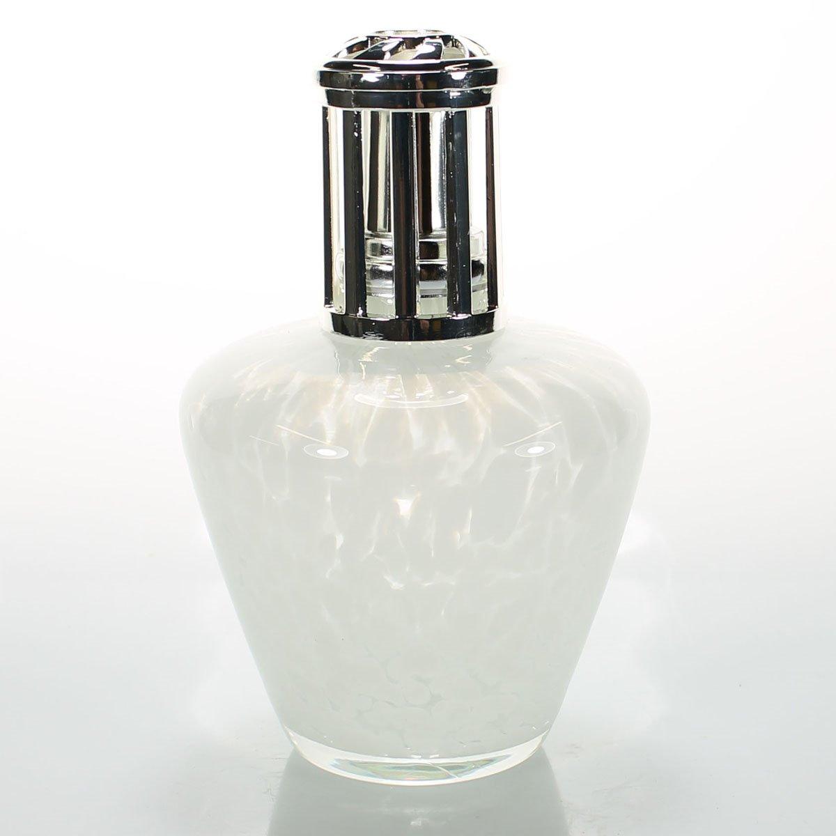 La-Tee-Da White Satin Lamp