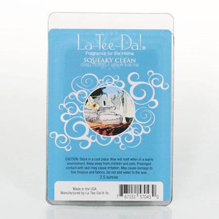 La-Tee-Da Wax Melts Squeaky Clean - Crisp Cotton