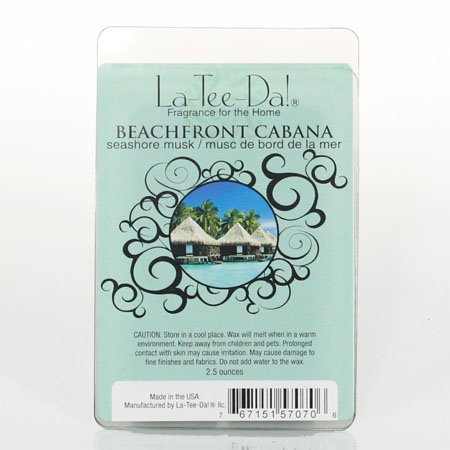La-Tee-Da Wax Melts Beachfront Cabana - Seashore Musk