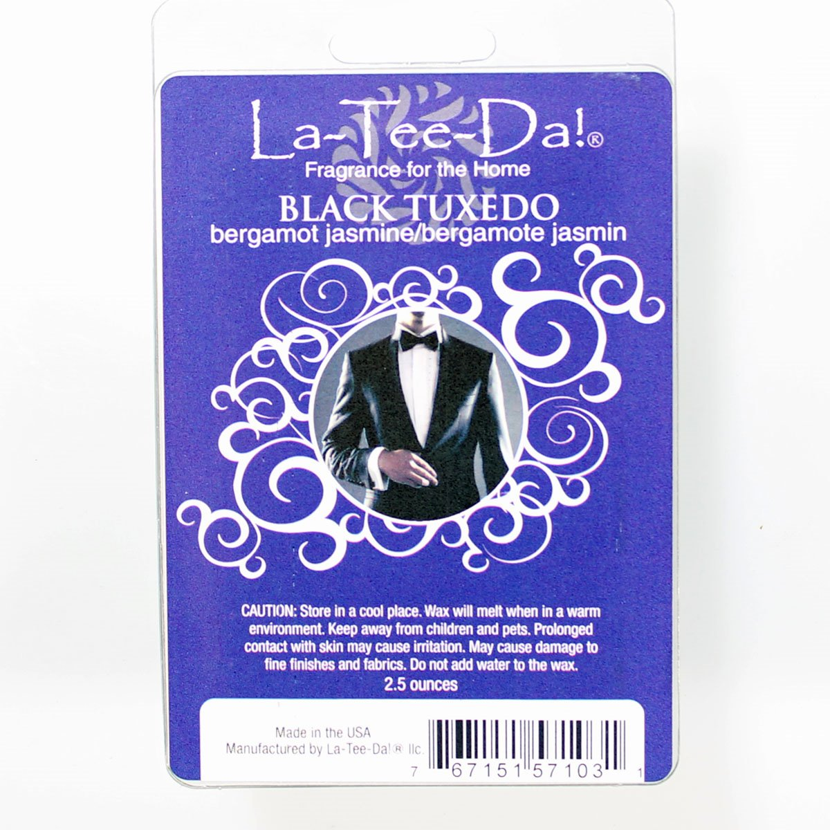 La-Tee-Da Wax Melts Black Tuxedo