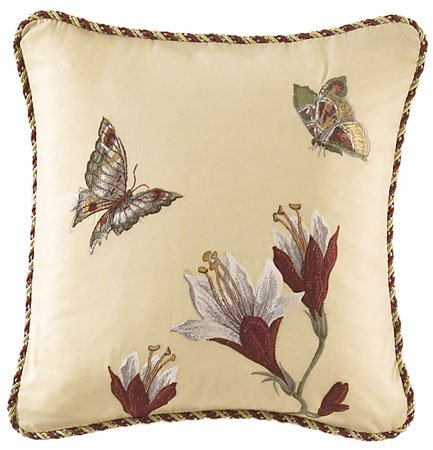 Laurel Springs Embroidered Accent Pillow