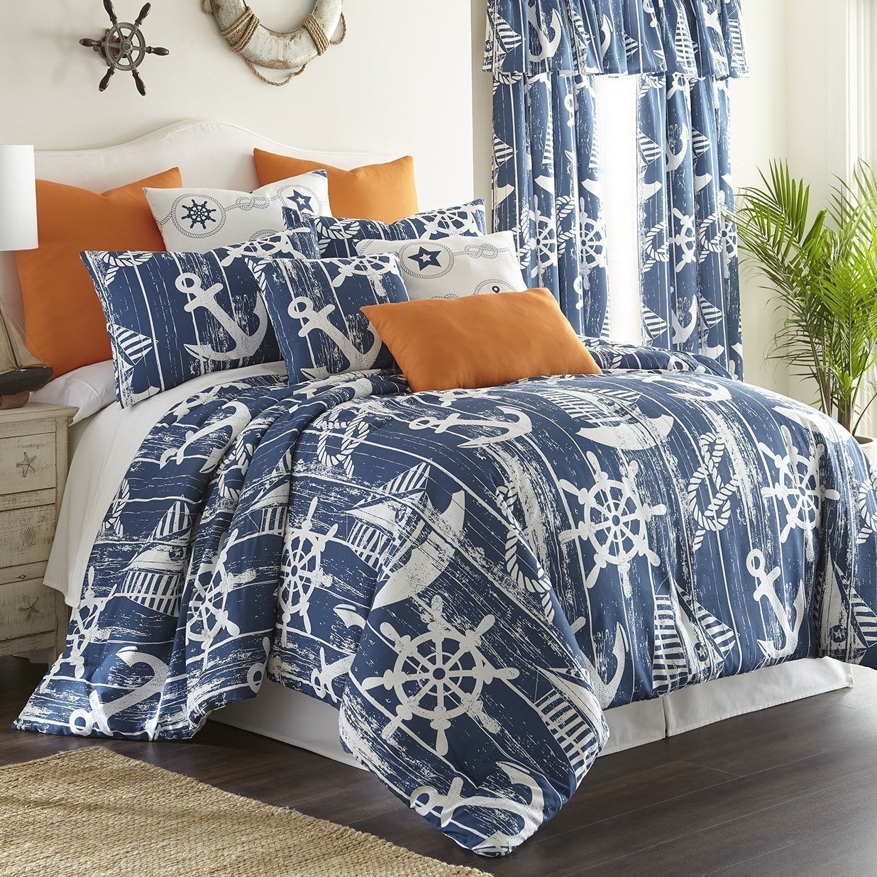 Nautical Board Comforter Set California King Size