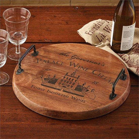 Palace Wine Cellar Wood Tray