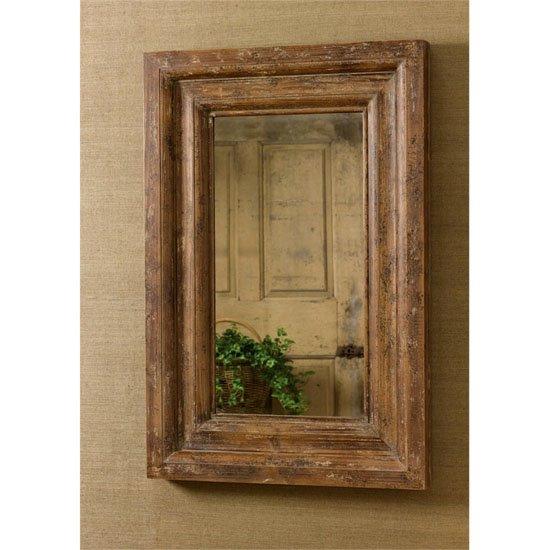 Distressed Wood Mirror 24X3X36