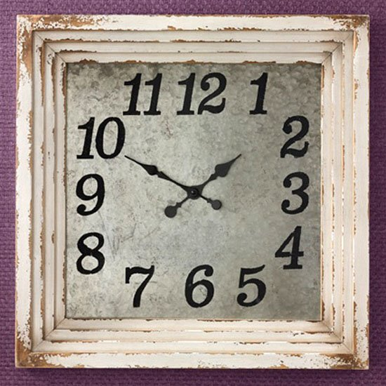 Wall Clock 20 Aged Cream