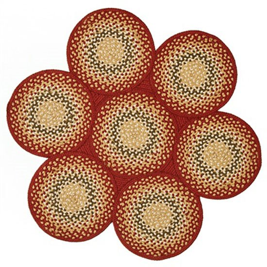 Mill Village 7 Circle Braided Rug