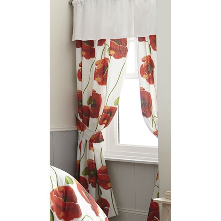 Poppy Plaid Tailored Valance