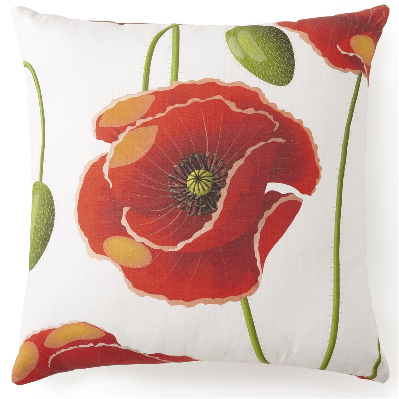 "Poppy Plaid Square Pillow 20""x20"" - Poppy Pattern"