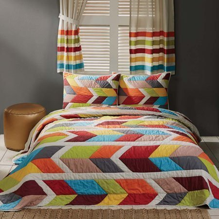 Rowan Lux King Size 3 Piece Quilt Set
