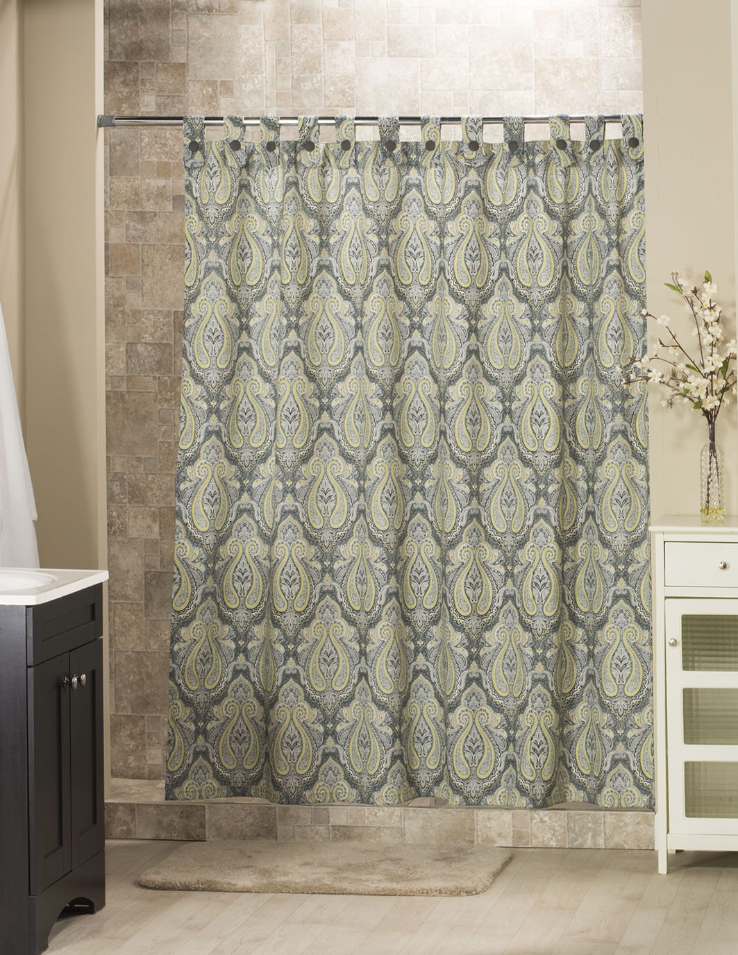 Park Avenue Tab Shower Curtain