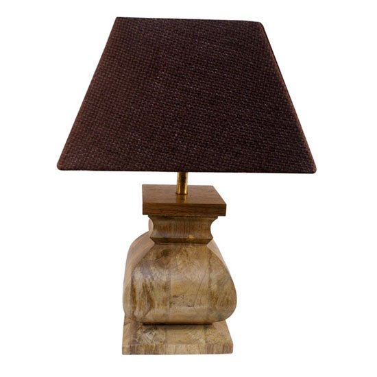 Distressed Wood Lamp