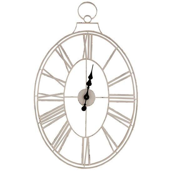 White Wire Clock