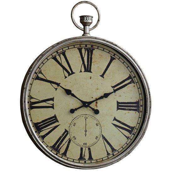 Round Champagne Metallic Clock