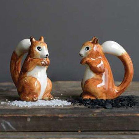 Ceramic Squirrel Salt & Pepper Set