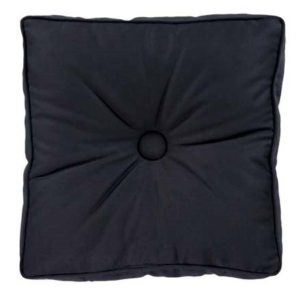 Yvette Eclipse Square Cushion Pillow with Button