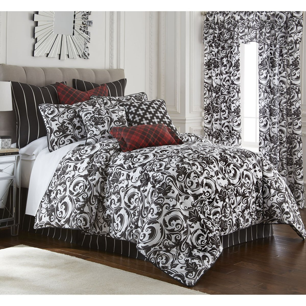 Scrollwork Duvet Cover Set Twin Size