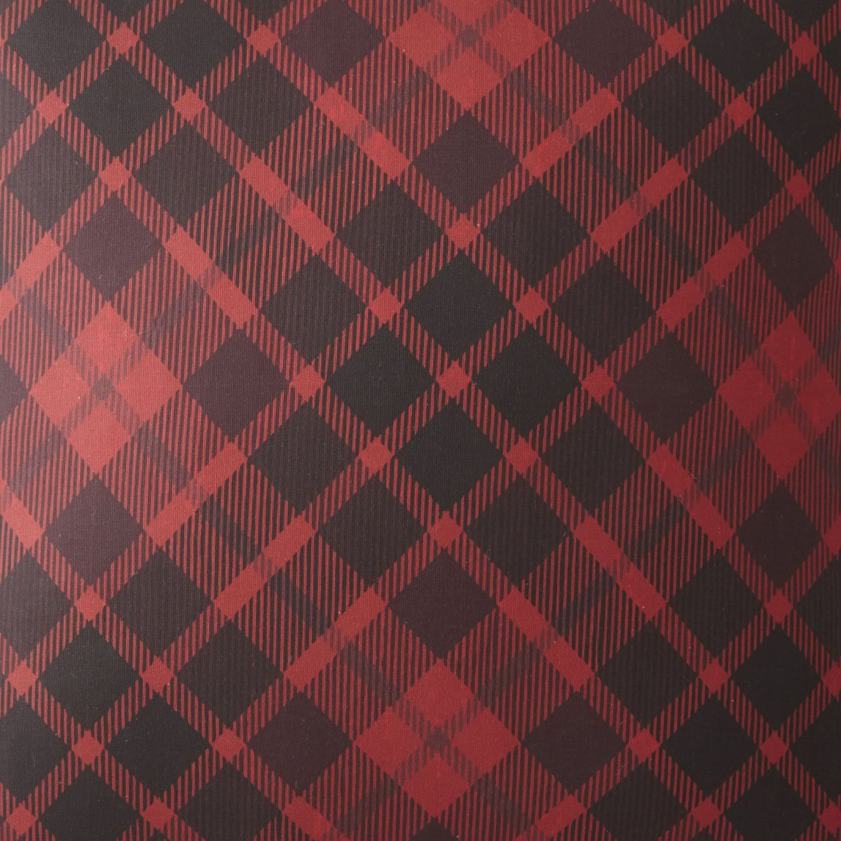 Scrollwork Fabric Per Yard - Red Plaid