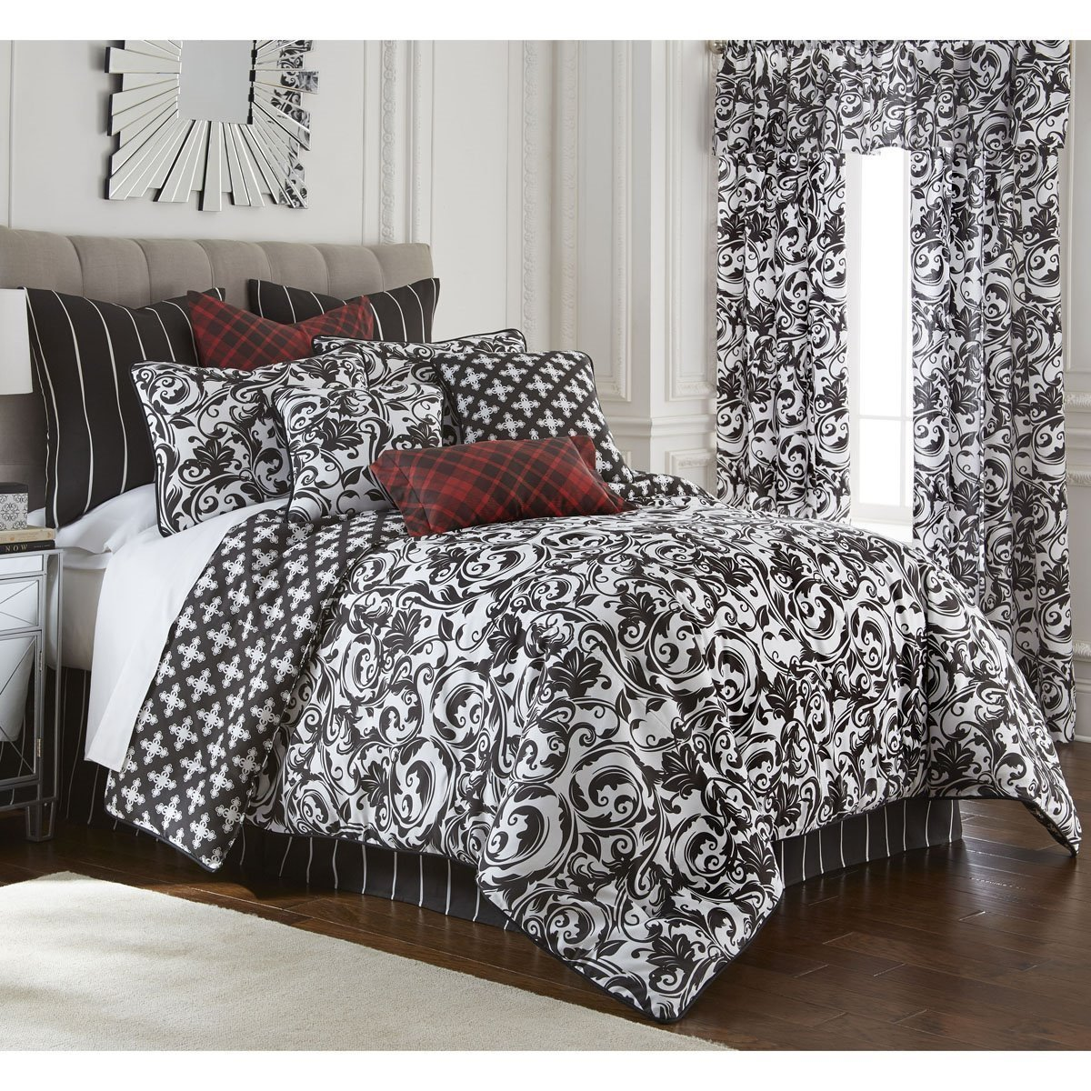 Scrollwork Comforter Set Reversible California King