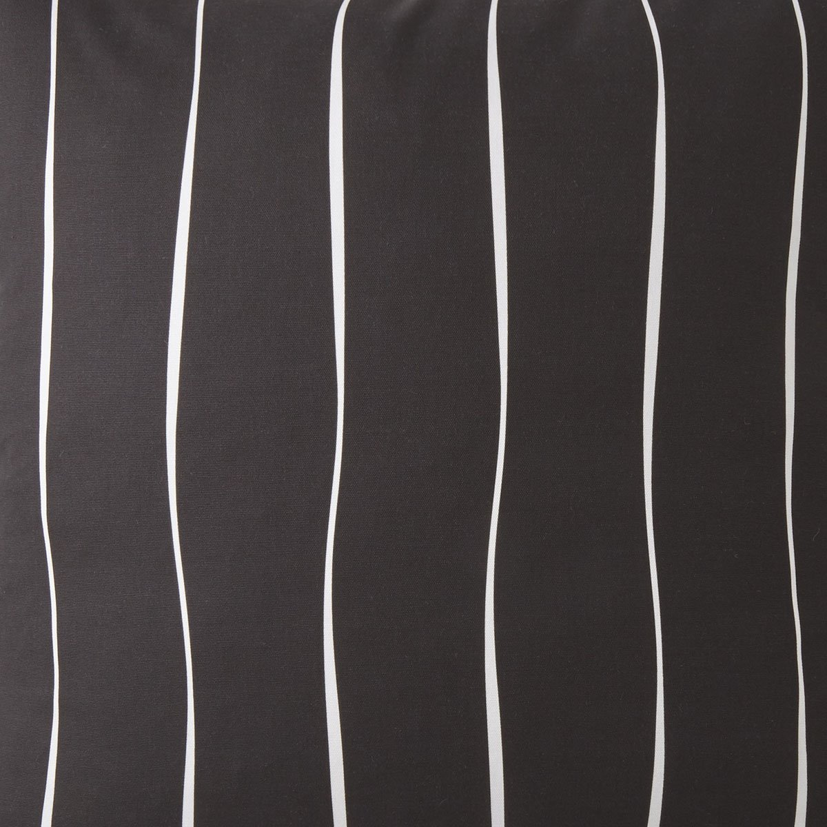 Toile Back In Black Fabric Per Yard - Black & White Stripe